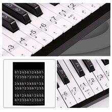 1 blatt Klavier Tastatur 54/61 Schlüssel Elektronische Tastatur 88 Tasten Aufkleber Musik Aufkleber Label Hinweis Lernen Biginners Kinder