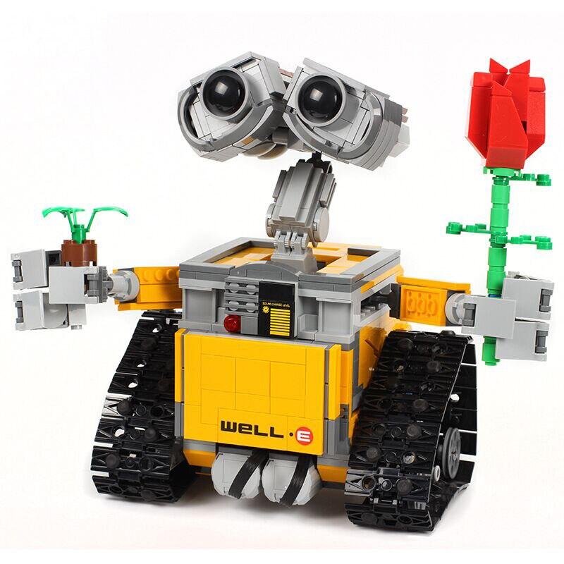RC télécommande mur E Robot Figure avec batterie bloc de construction briques modèle jouets Compatible 16003 Technik 21303 - 2