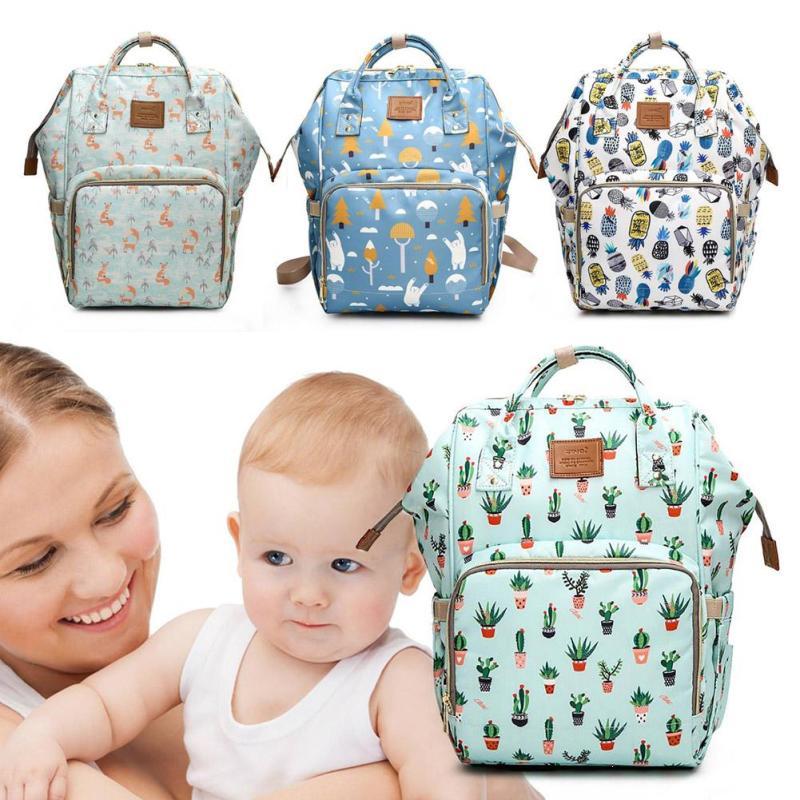 1 pièce de mode maman sac nouvelle impression mère enfant sacs voyage usage paquet nouveau-né poussette sac Nylon zipper 20-35L bande dessinée w4