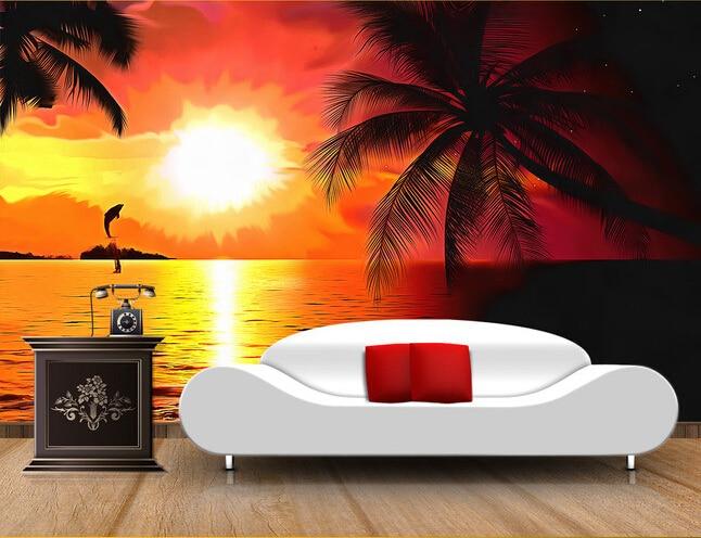 Buy Custom Photo Wallpaper Sunset Beach
