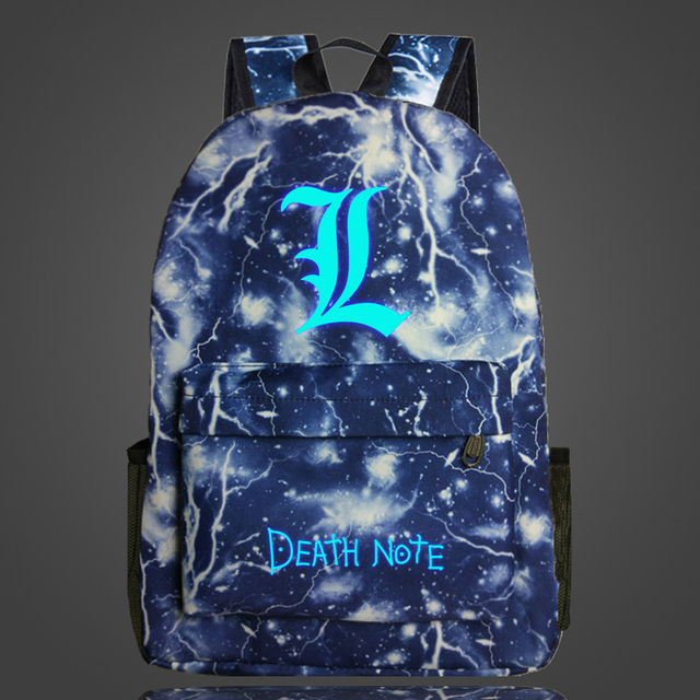 Anime Death Note Luminous Bag School Backpack