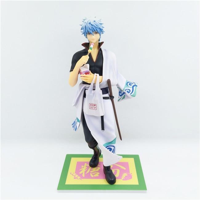 Figurine de collection en PVC de 23 cm, âme en argent, Sakata Gintoki, jouet-16