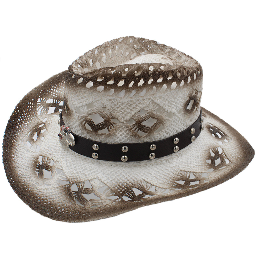 2019 Women Men Sun Sun Hat With Eagle Leather Band Handmade Weave Straw Beach Sun Sombrero Cowboy Hat Size 58cm A0080 To Win A High Admiration And Is Widely Trusted At Home And Abroad. Men's Hats