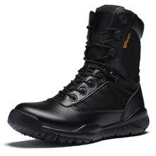 2017 New Mens Montagne Bottes Noir Randonnée Chaussures High Top En Plein Air Trekking Sneakers En Cuir Armée Bottes Respirant Camping Chaussures
