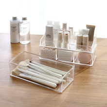 цена на Acrylic Cosmetic Organizer Clear Makeup Jewelry Cosmetic Storage Display Box Acrylic Case Stand Rack Holder Makeup Storage box