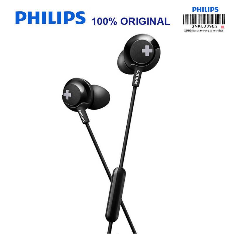 Philips SHE4305 3.5mm douszne słuchawki z redukcją szumów zestaw słuchawkowy stereo z basami dla Xiaomi oficjalna test