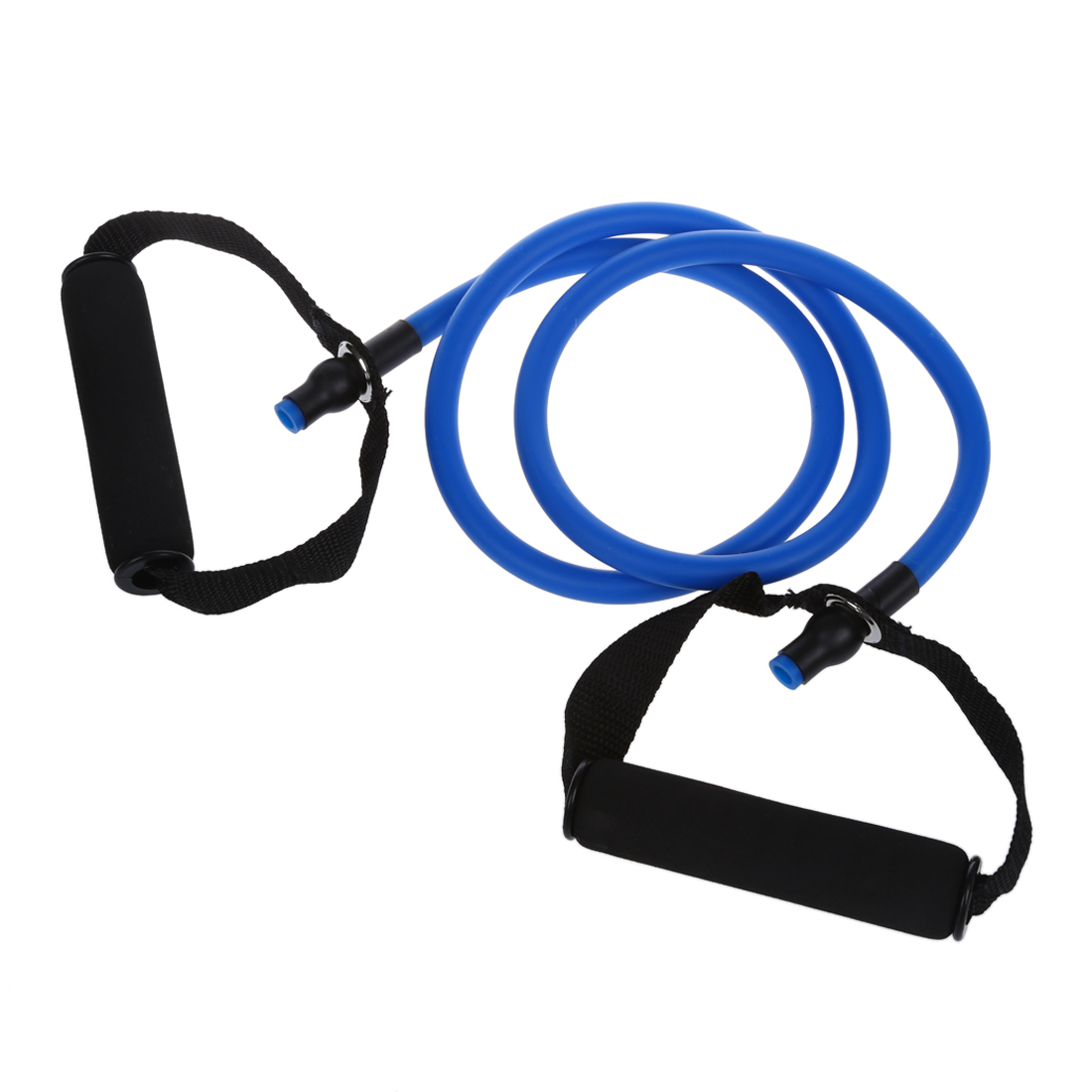 Blue Resistance Stretch Band Tube for Yoga Pilates Fitness Exercise ABS Workout