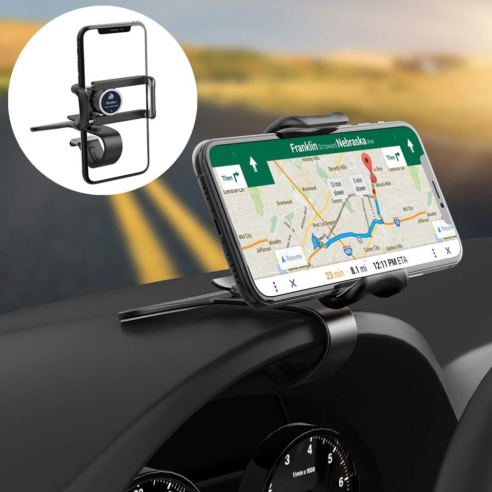 Suporte do telefone do carro do painel universal 360 graus suporte do telefone móvel aperto no carro ajustável suporte do telefone celular montar