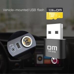 Image 5 - 혁신적인 TF 카드 슬롯이있는 DM CR015 마이크로 SD 카드 리더기는 컴퓨터 또는 자동차 용 usb 플래시 드라이브로 카드 리더를 변경합니다.