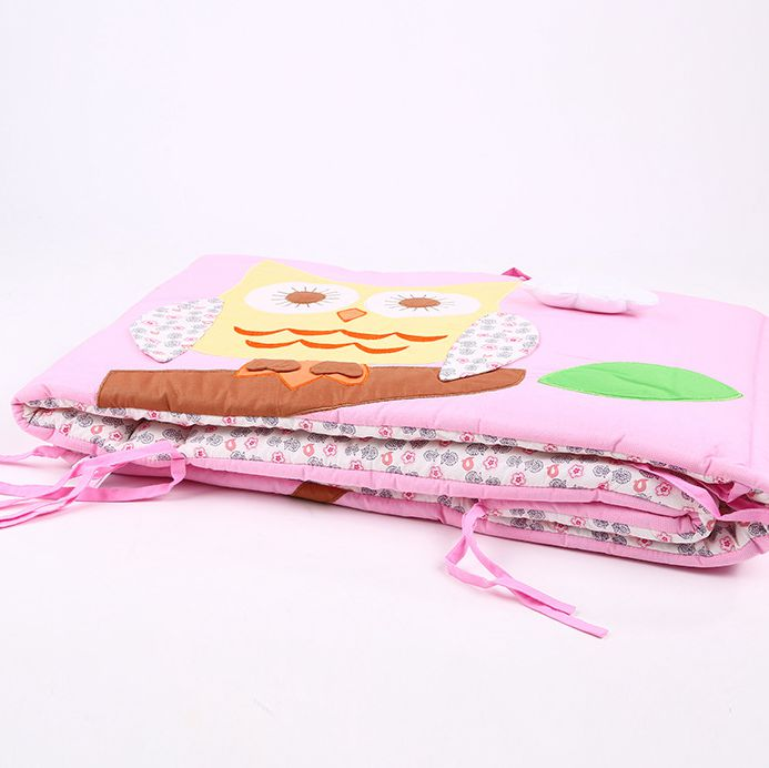 ФОТО new Embroidered  Carton Animals owl baby bed bumper In the Crib Cot Soft baby bed Around For Children Crib Bumper 40*180cm