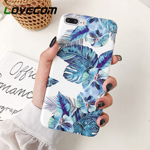 LOVECOM Vintage Banana Leave & Flowers Phone Case For iPhone 11 Pro Max XR XS Max 6 6S 7 8 Plus X Soft IMD Phone Back Cover Case(China)