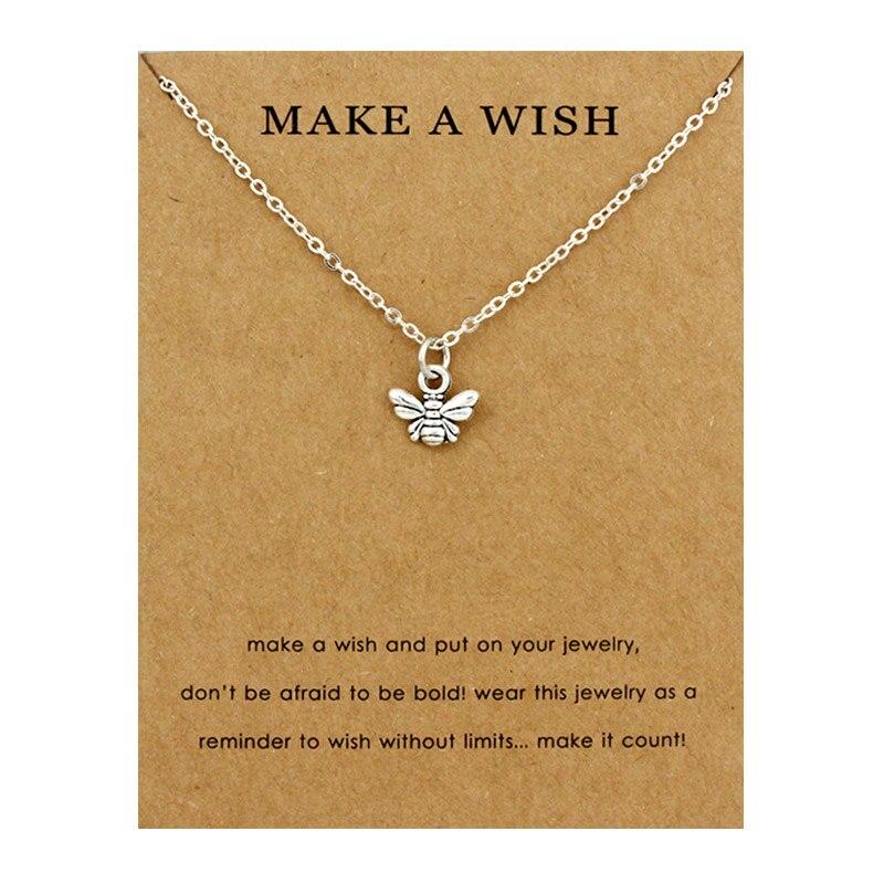 Honeycomb Bee Necklaces Waves Beach Sea Turtle Tortoise Pendants Women Men Girl Unisex Trendy Fashion Jewelry Christmas Gift