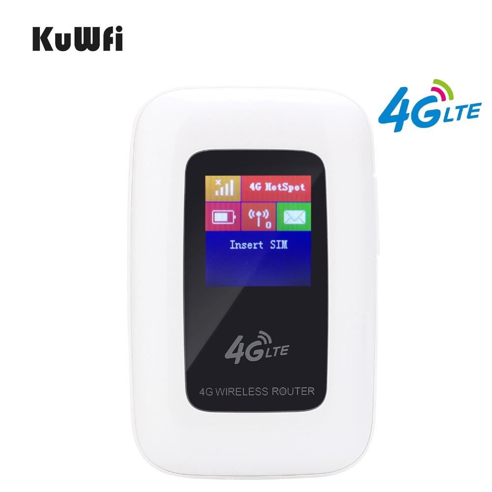 KuWFi Unlocked 100Mbps Mini 4G WIFI LTE Router Mobile WiFi Hotspot 3G 4G WiFi Router With SIM Card Slot Support LTE/WCDMA HSPA support gps 4g yf360d l g 4g dual sim lte router for m2m application