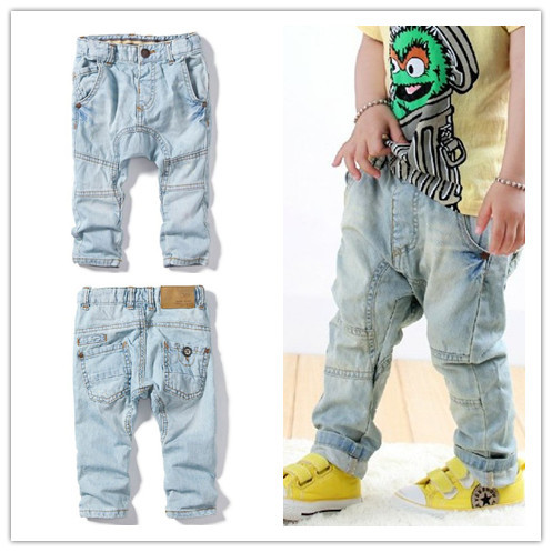 New arrival Baby Jeans Haroun pants Boys kids Wash do old Denim pants Brand clothing Wholesale