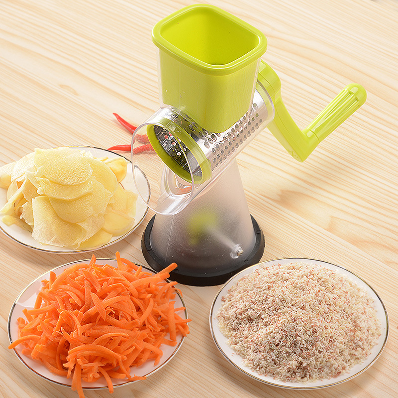 Manual Vegetable Cutter Slicer Multifunctional Round Mandoline Slicer Potato Cheese Gadgets Kitchen Accssories (2)