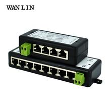 WANLIN inyector PoE de 4 canales y 8 canales para vigilancia, cámara IP POE, Wifi, AP, VoIP, alimentación sobre Ethernet, IEEE802.3af/at, adaptador de corriente