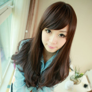 Online Broken Long Hair Slightly Curled Bangs Big Wave Of Korean Fashion Wig Air Temperature Silk Material Aliexpress