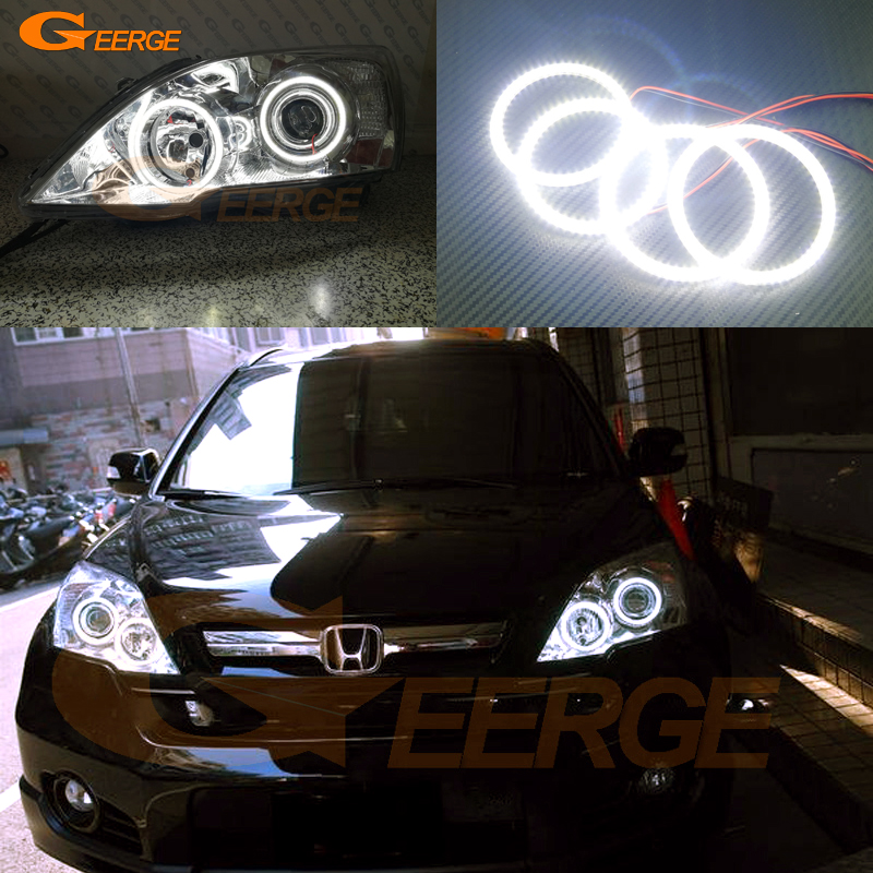 For HONDA CR-V CRV 2007 2008 2009 2010 2011 Xenon headlight Excellent Ultra bright smd led Angel Eyes Halo Ring kit