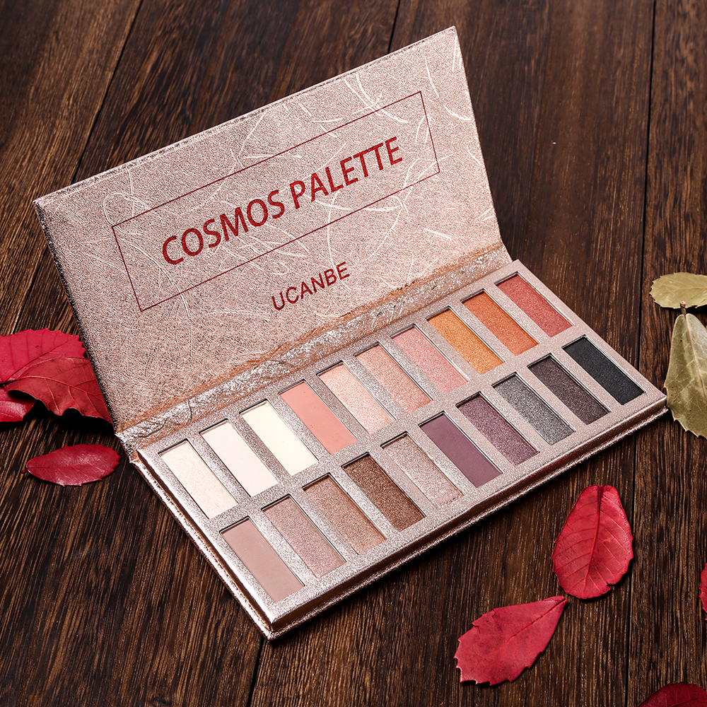 UCANBE Brand 20 Colors Eyeshadow Makeup Palette Shimmer Matte Radiant Pigmented Cosmetic Eye Shadow Powder Natural Sexy Eye Set ucanbe brand professional 15 earth colors matte eyeshadow palette pigments makeup shimmer eye shadow powder contour cosmetic set