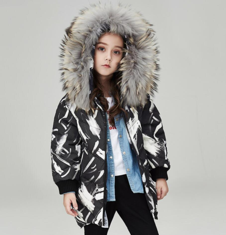 9b909c97a US $198.89 |2017 Down Jacket for Girls Teens Winter Thick Warm Clothes  Furry Collar Kid's Great Coat Cute Clothing 56789 10 11 12 Years old-in  Down & ...