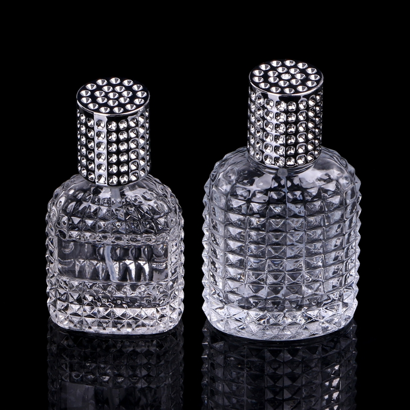 New Style Pineapple Portable Glass Perfume Bottle With Spray Empty With Atomizer Refillable Bottles 30ml 50ml