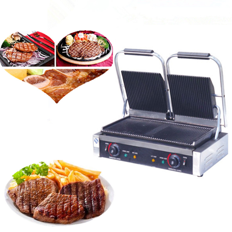 Electric grilling machine commercial panini grill sandwich makerElectric grilling machine commercial panini grill sandwich maker