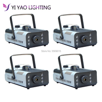 4pcs/lot Remote control 1500W Fog machine with RGB LED light/smoke professional stage