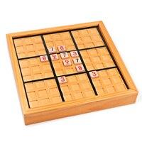 خشبي سودوكو اللغز بالغين أطفال الأطفال لعبة طاولة لعبة اللغز مجلس تطوير الرياضيات المنطق تعلم ألعاب تعليمية