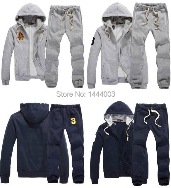 e35103b1020 Tracksuits Hoodie Men s Full Zip Polo Sweat Suits Fashion Coats Jacket Set  Pants Sportswear free shipping
