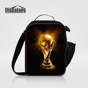 Dispalang Footballs Basketballs Lunch Bag For Men Small Canvas Picnic Food Lunch Bags Thermal Insulated Bolsa Termica For School