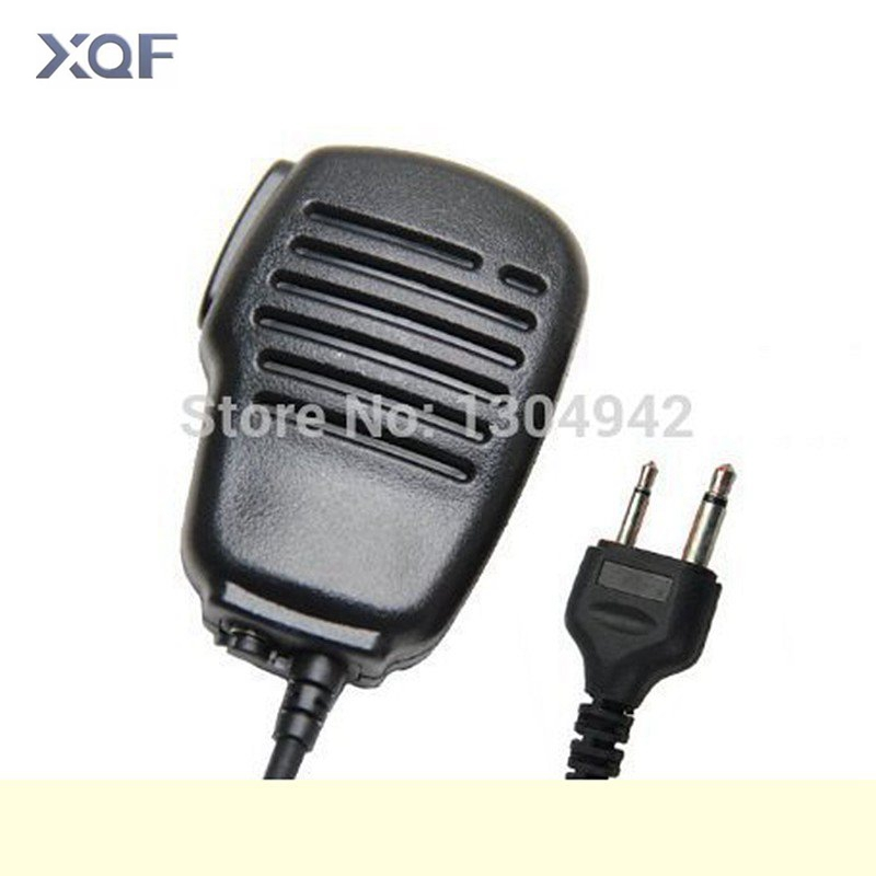 Rainproof Shoulder Remote Speaker Mic Microphone PTT For 2-pin I-com IC-V8  Yaesu FT10 Vertex Vertex VX200 Radio