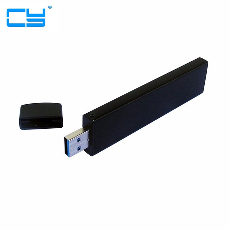 все цены на 80mm NGFF M2 SSD to USB 3.0 USB3.0 External PCBA Conveter Adapter adaptor Card Flash Disk Type with Black Case онлайн