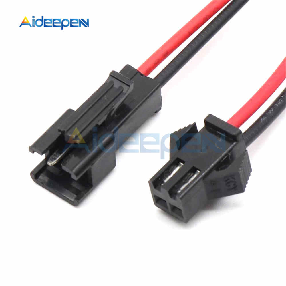 5 Pairs 10CM/15CM/30CM Long JST SM 2Pins Plug Male to Female Wire Connector for LED Light Lamp