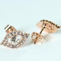 Fashion Evil Eye Heart Crystal Stud Earrings For Women Girls Brand Jewelry Brincos Pendientes Mujer Moda Joyeria Marcas Famosas 1