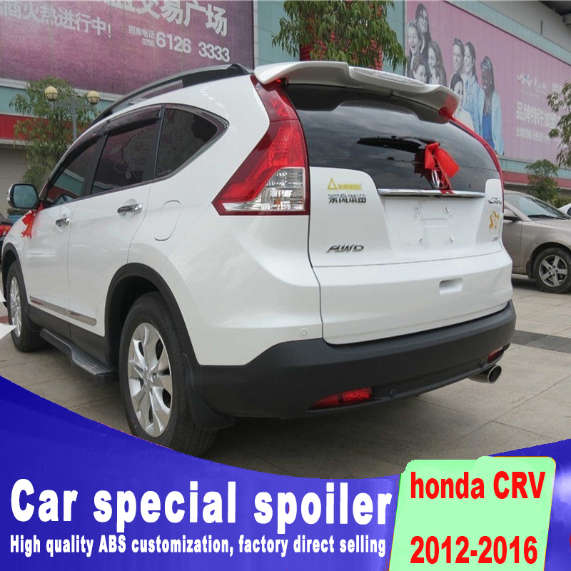 2012 2013 2014 2015 2016 For Honda CRV CR V punching installation ABS spoiler by light rear window roof black white primer