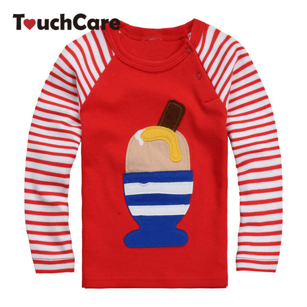 Shirt design for baby girl - Aliexpress Com Buy Icecream High Quality Fall Winter Design Kids Infant Clothing Children T Shirt Cute Baby Boy Girl Long Sleeve Cotton T Shirts From