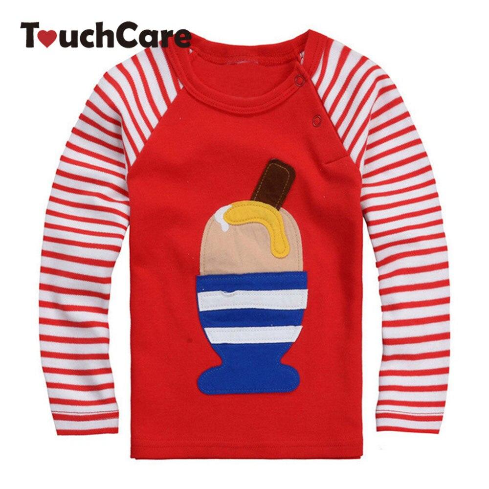 Design t shirt baby - Icecream High Quality Fall Winter Design Kids Infant Clothing Children T Shirt Cute Baby Boy