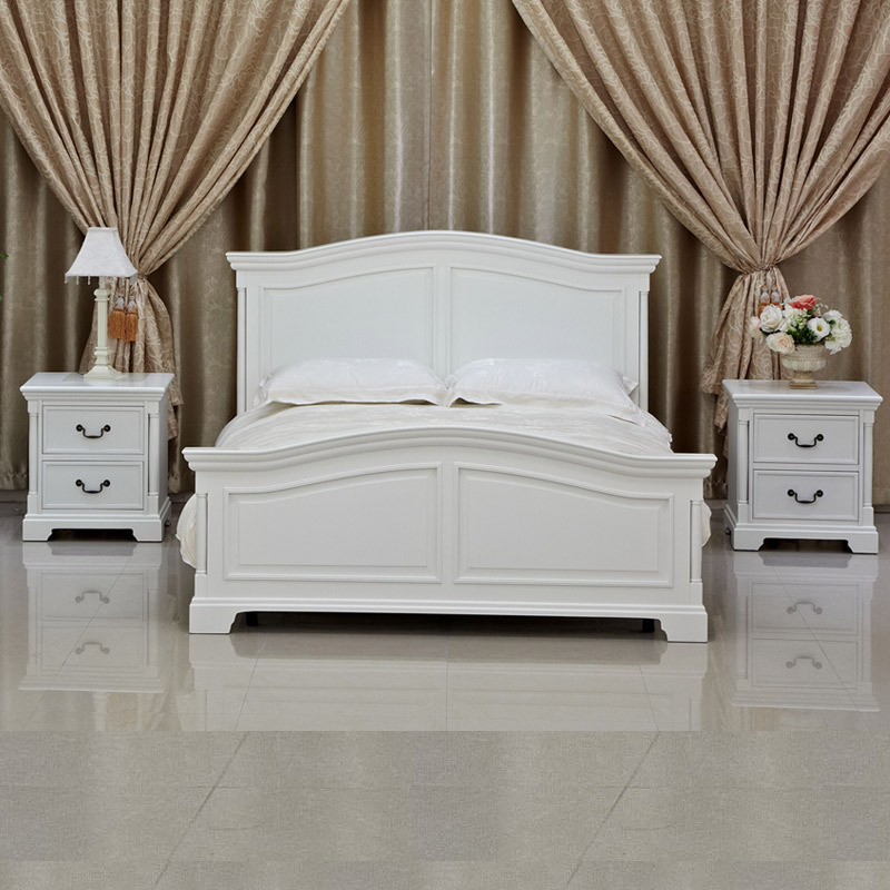 Gentil Simple Mediterranean Style Garden Bed Wood Double Bed 1.5 M Double White  Wood Bed KH7394 In Wardrobes From Furniture On Aliexpress.com | Alibaba  Group