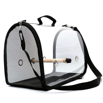 Newly Lightweight Bird Carrier Cage Transparent Clear PVC Breathable Parrots Travel Bag XSD88 5