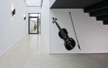 Wand Room Decor art Vinyl Aufkleber Wandbild Aufkleber Violine Musik Instrument 22inX35in