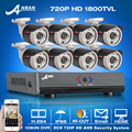 ANRAN! 8CH HDMI 1080N AHD DVR CCTV Kit+8pcs&720P HD 1800TVL Outdoor Mini Camera Security Video Surveillance System Email Alarm