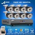 Anran! 8CH HDMI 1080N AHD DVR CCTV Kit + 8 unids y 720 P HD 1800TVL Al Aire Libre Mini Cámara de Vídeo de Seguridad Sistema de vigilancia de Alarma del Email