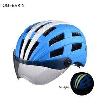 Ночник Спортивная Кепка с солнцезащитных очков мотоциклетный шлем Велоспорт шлемы в полной головки Bicicleta 26 вентиляционных Casco Ciclismo