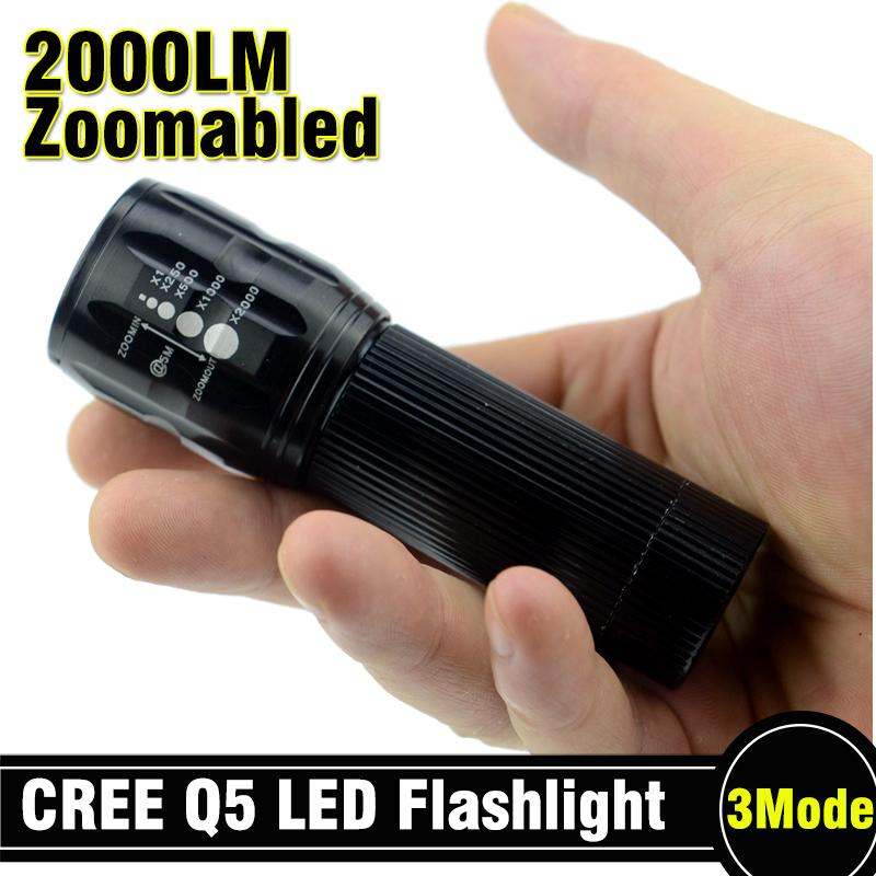 1pcs 2000Lumens Mini LED شکار لیزری کمپینگ نظامی - روشنایی قابل حمل
