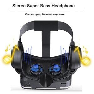 Image 2 - Shinecon 6,0 Virtuelle Realität Smartphone 3D Gläser VR Headset Stereo Helm VR Headset mit Fernbedienung für IOS Android
