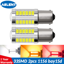 ASLENT 1156 BA15S P21W 1157 P21/5W BAY15D Super Bright 33 SMD 5630 LED auto brake lamp car daytime running light stop bulbs 12V 1pc 1157 bay15d 1500 lumens extremely bright 144 chipsets p21 5w 1016 led bulbs with projector for brake light 6000k xenon white