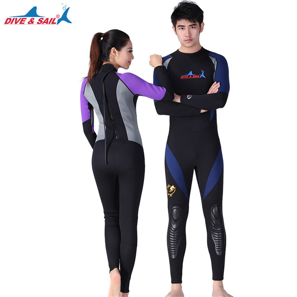 Men women Neoprene1.5MM Scuba dive  Wetsuits Snorkeling Diving Jumpsuit One piece long sleeved Spearfishing Surf wetsuits 2mm premium neoprene wetsuits short sleeve spring diving suit jumpsuit swimwear for men women scuba diving snorkeling swimming