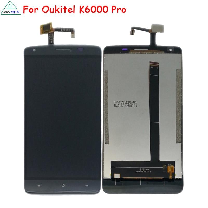 Para Oukitel K6000 Pro Pantalla LCD de Pantalla Táctil Teléfono Móvil de Piezas