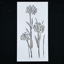 Reutilizable árbol y forma de flor plantilla aerógrafo pintura arte DIY chatarra reserva álbum artesanías hogar Decoración regalo