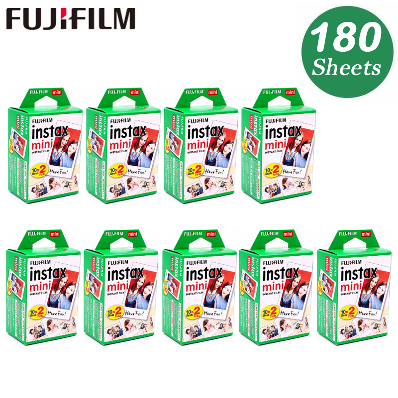 Original 180 Sheet Fuji Fujifilm Instax Mini 8 White Film Instant Photo Paper For 7s 8